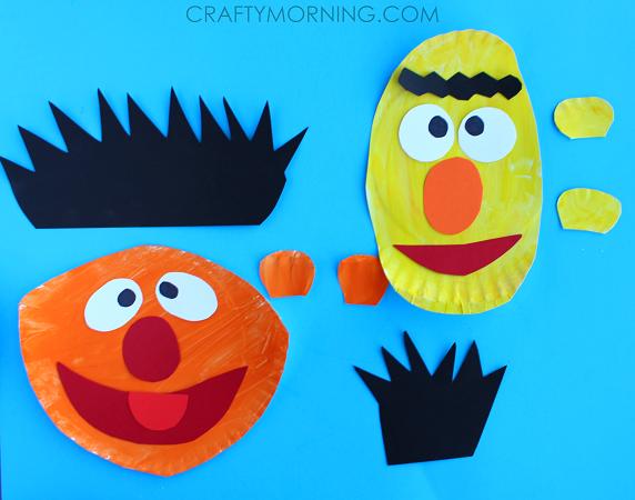 ernie-and-bert-paper-plate-kids-craft