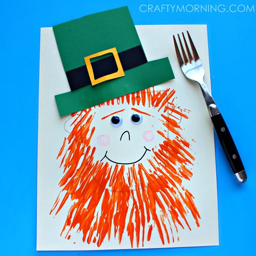 fork-leprechaun-st-patricks-day-craft-for-kids