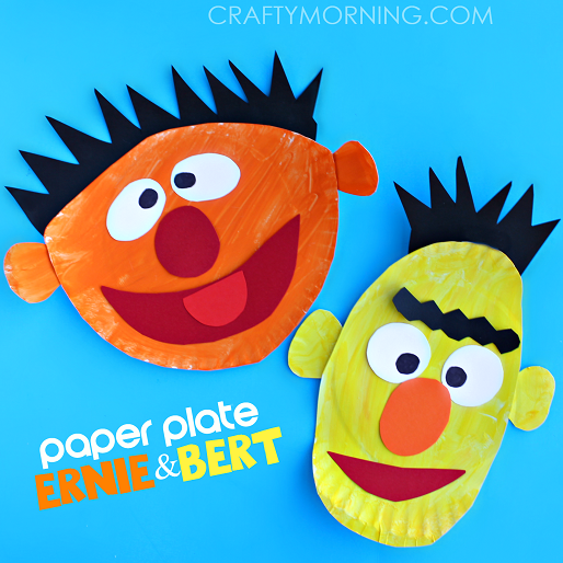 paper-plate-ernie-and-bert-crafs-for-kids