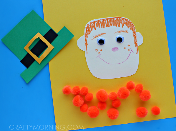 pom-pom-leprechaun-craft-for-kids