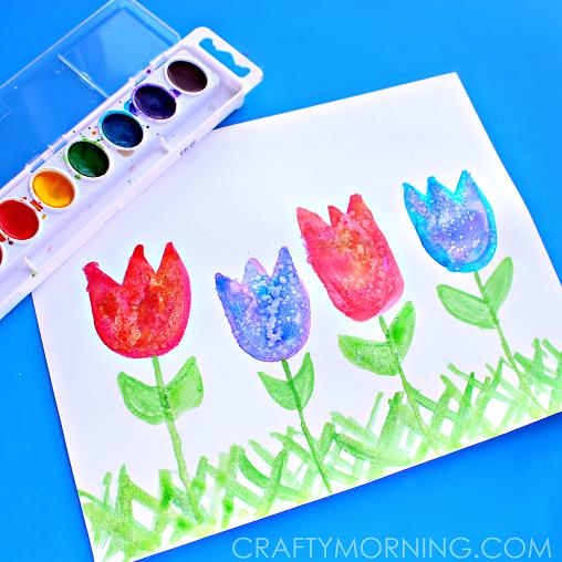 salt-art-for-kids-spring-tulips-craft