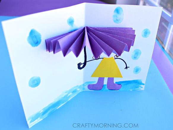3D-umbrella-spring-craft-card-for-kids