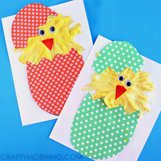 HATCHING-PUFFY-PAINT-CHICKS-EASTER-KIDS-CRAFT-