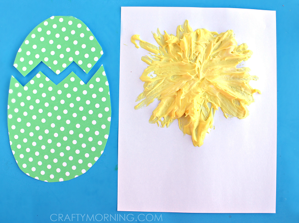 PUFFY-PAINT-EASTER-CHICK-KIDS-CRAFT