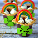 Rainbow Pudding Cups for a Kids Treat
