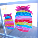 Crayon Resist Easter Egg Window Decorations