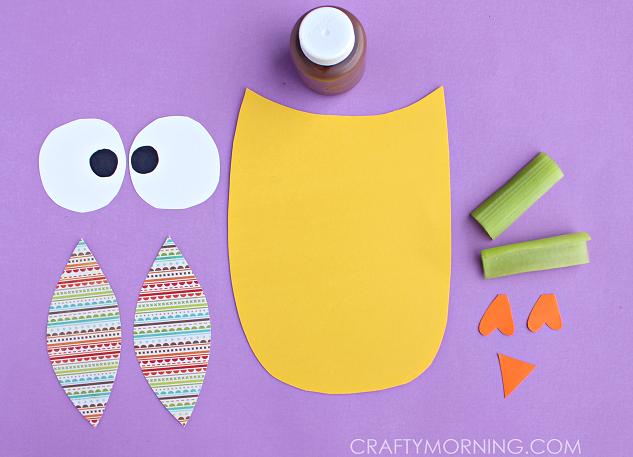 celery-owl-craft-for-kids