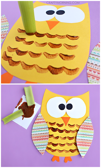 celery-stamped-owl-craft-for-kids-to-make