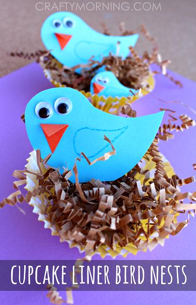 cupcake-liner-blue-bird-nests-spring-craft-for-kids