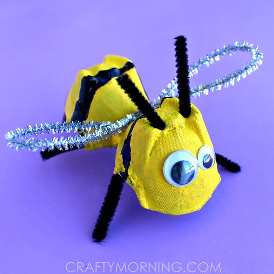 egg-carton-bee-craft-for-kids-