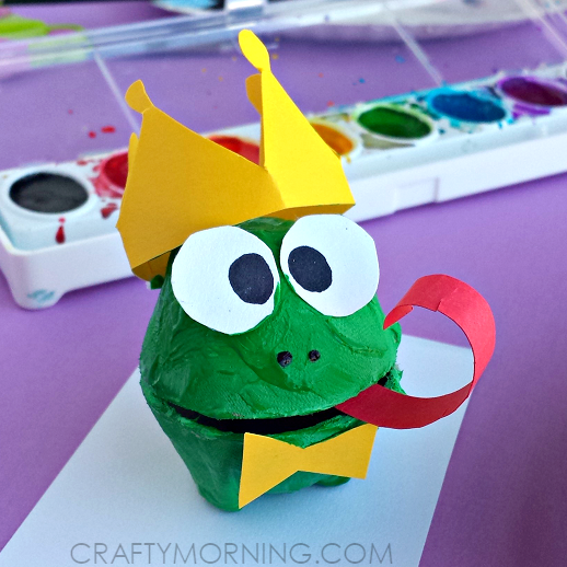 egg-carton-frog-prince-craft-for-kids-