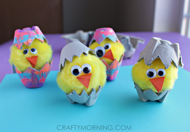 egg-carton-hatching-chicks-easter-spring-kids-craft-