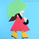 Girl in Rain Boots Spring Craft for Kids