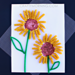 Make a Sunflower Craft Using Noodles