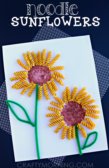 noodle-sunflower-spring-summer-craft-for-kids
