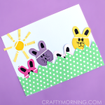 Paint Chip Bunny Craft for Kids