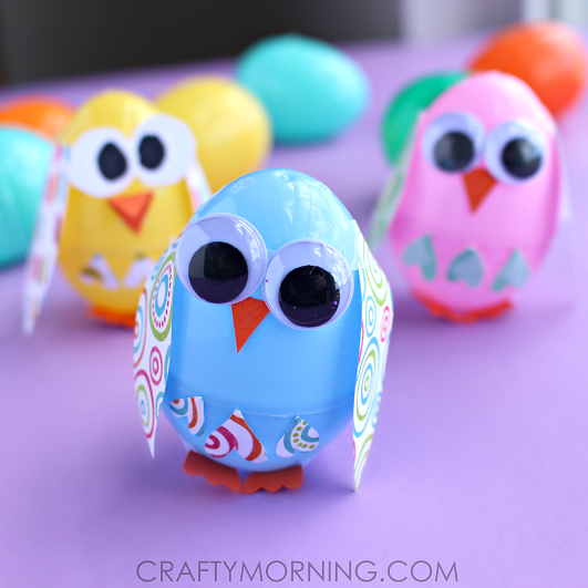 plastic-easter-egg-owl-craft-for-kids-