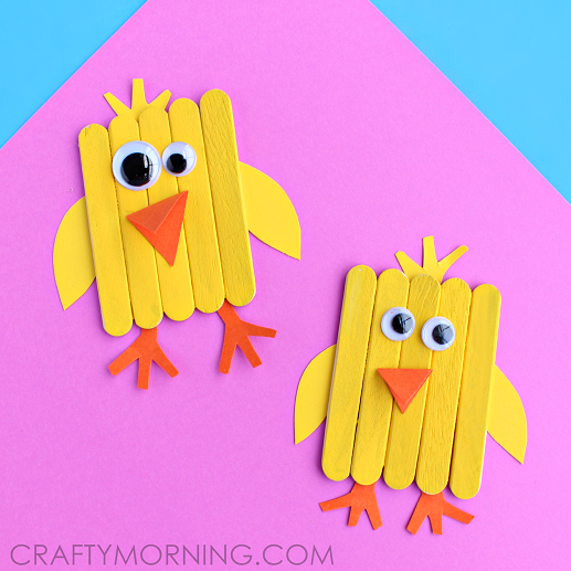 popsicle-stick-chick-easter-craft-for-kids