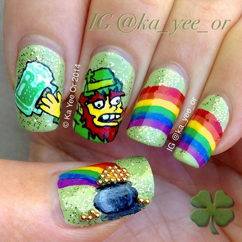 rainbow-beer-st-patricks-day-nail-design