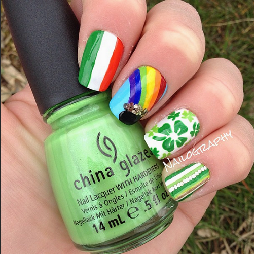 rainbow-st-patricks-day-nail-design
