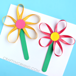 Make Flowers on a Stick Using Ribbon