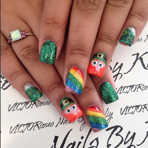 sparkle-leprechaun-rainbow-st-patricks-day-nails