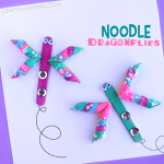 Easy Noodle Dragonfly Craft for Kids