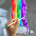 Painting on Aluminum Foil (Kids Art Activity)