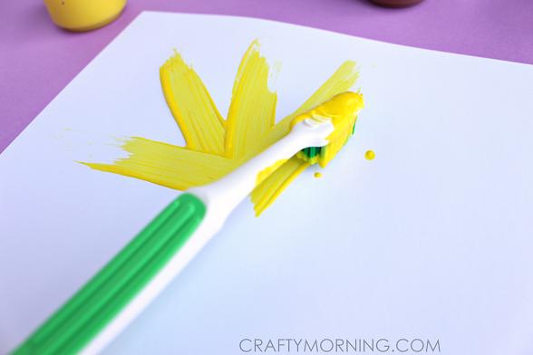 toothbrush-sunflower-kids-craft