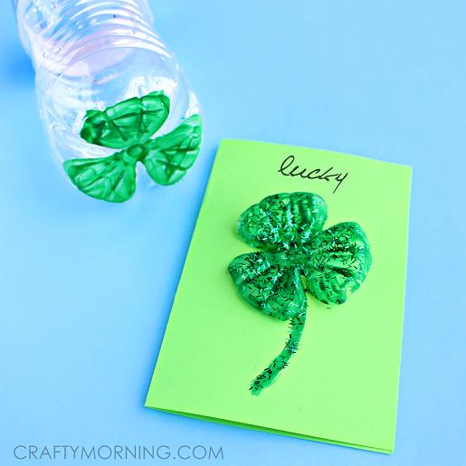 water-bottle-clover-st-patricks-day-card-craft-
