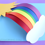 3D Paper Rainbow Kids Craft