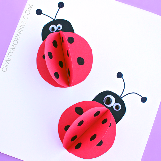 3d Paper Ladybug Craft For Kids Crafty Morning