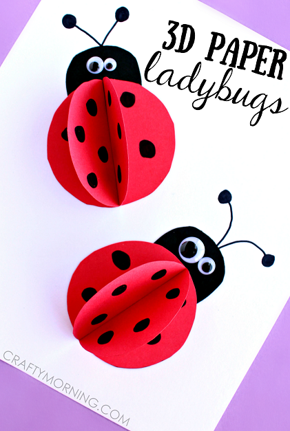3d-paper-ladybugs-kids-craft-idea