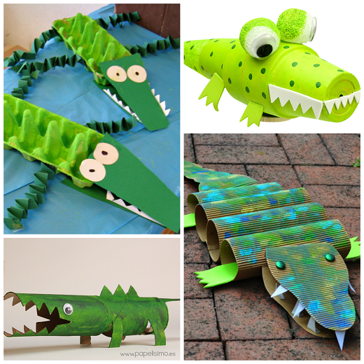 Creative Alligator Crocodile Crafts For Kids Crafty Morning