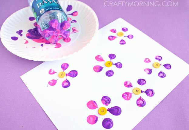 bottle-print-button-flowers-kids-craft