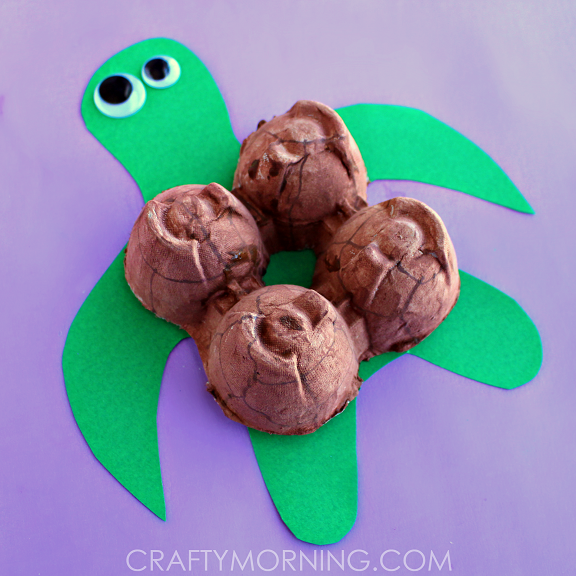 Egg Carton Turtle Craft for Kids