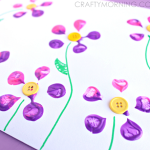 Make Bottle Print Button Flowers