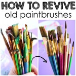 How to Revive Old Dried Up Paintbrushes