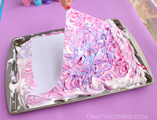 marble-paper-with-shaving-cream-kids-craft-
