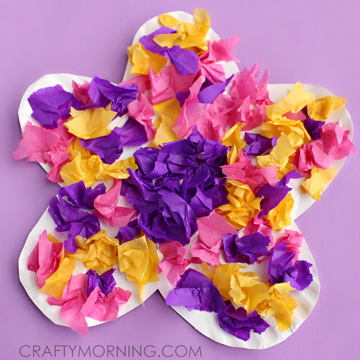 paper-plate-tissue-paper-flower-craft-for-kids