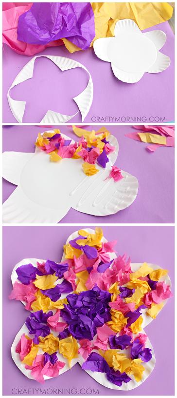paper-plate-tissue-paper-flower-kids-craft-