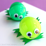 Silly Plastic Easter Egg Frogs