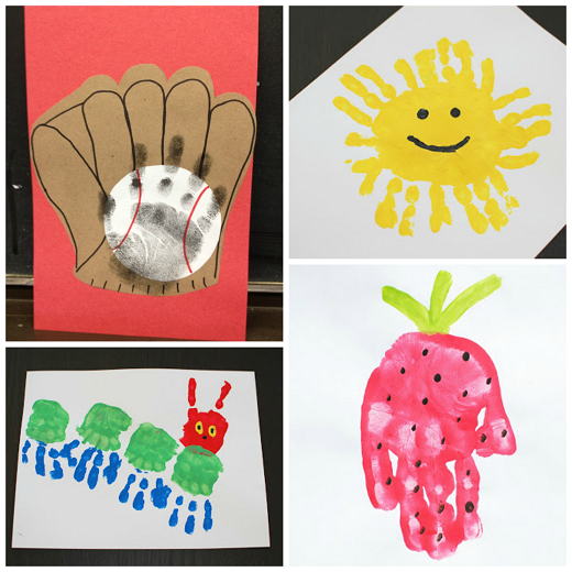 Summer Handprint Crafts For Kids To Make Crafty Morning