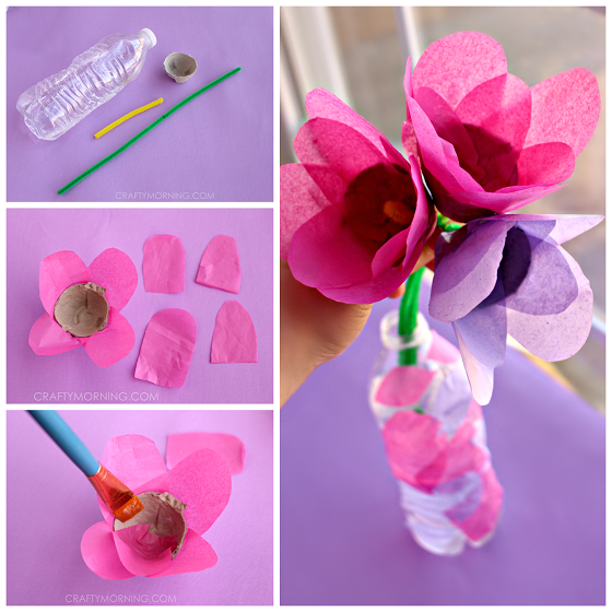 Tissue Paper & Egg Carton Tulips (Kids Craft)