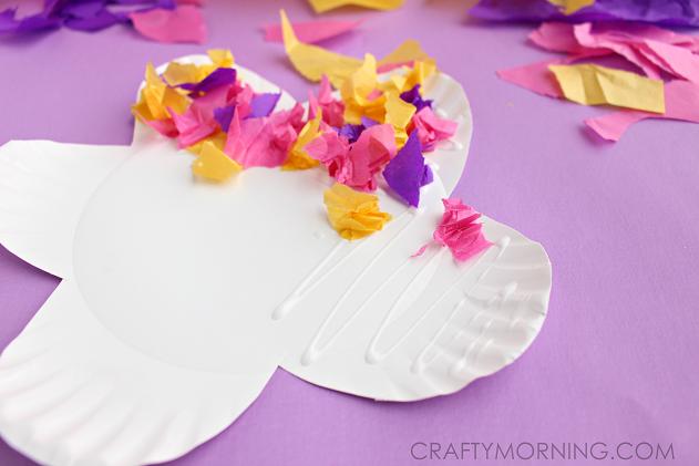 tissue-paper-paper-plate-flower-kids-craft