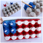 Egg Carton American Flag Craft for Kids