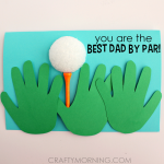 Handprint Golfer Father's Day Card for Kids to Make