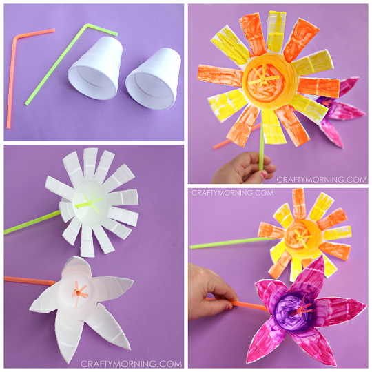 styrofoam-cup-flower-craft-for-kids