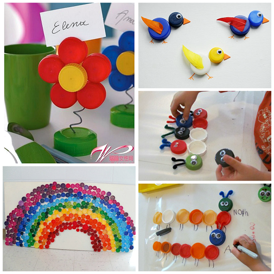 plastic-bottle-cap-crafts-for-kids-