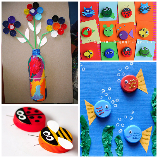 plastic-bottle-cap-lid-crafts-for-kids
